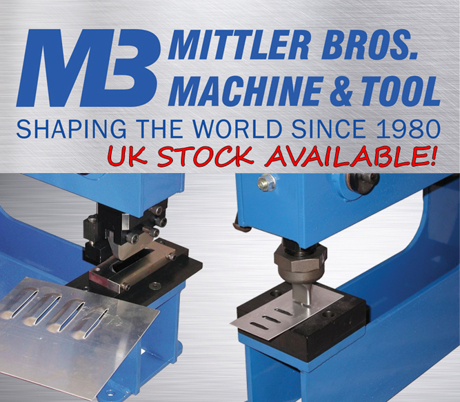 Mittler Bros. 3 tonne manual bench press louvre sets.