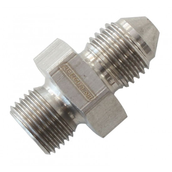 """Aeroflow 1/8"""" BSPP to 03 AN Straight Male Flare Adaptor (Washer Seal)"""