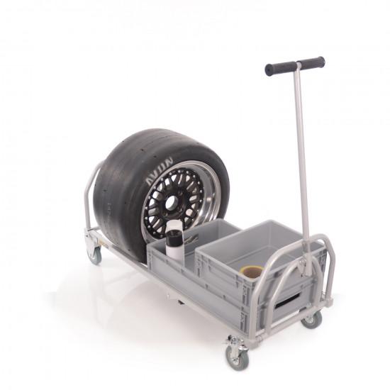 B-G Racing - Folding Pit Trolley - Powder Coated