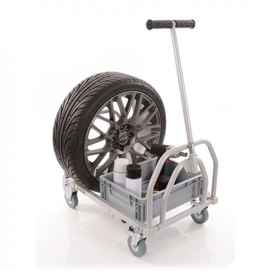 B-G Racing - Mini Folding Pit Trolley - Powder Coated