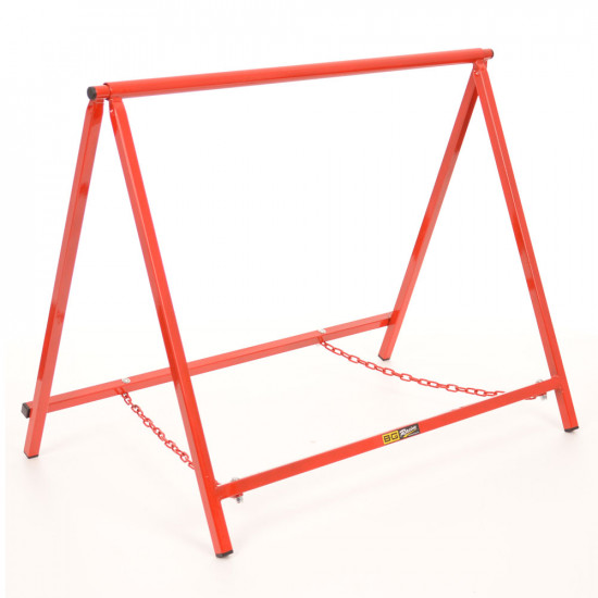 """B-G Racing - Chassis Stands - Extra Large 24"""" - Powder Coated - Red"""