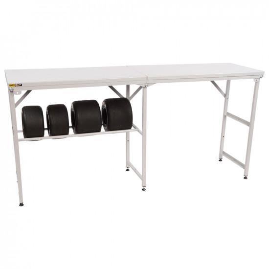 B-G Racing - Large Folding Table - Powder Coated