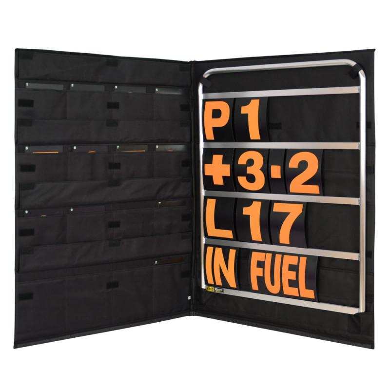 B-G Racing - Standard Silver Aluminium Pit Board Kit