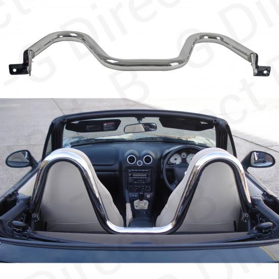 Mazda MX5 MKI MKII 1991 - 2005 stainless steel sports style bar hoops