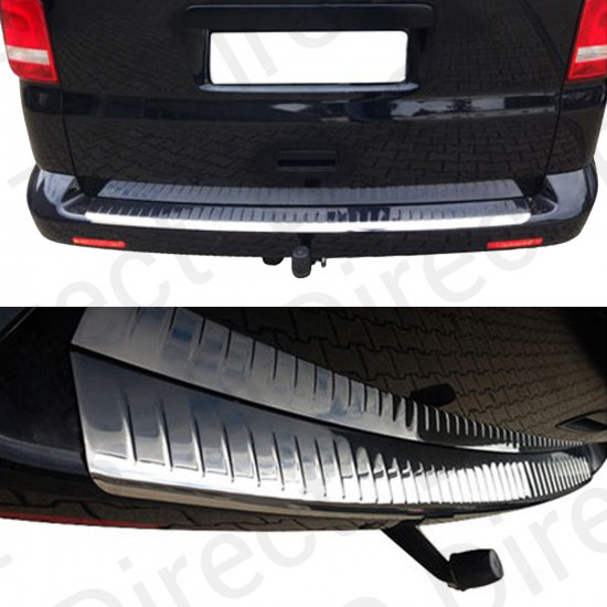 VW Transporter T5/T6 2003 - 2019 stainless steel rear bumper sill cover