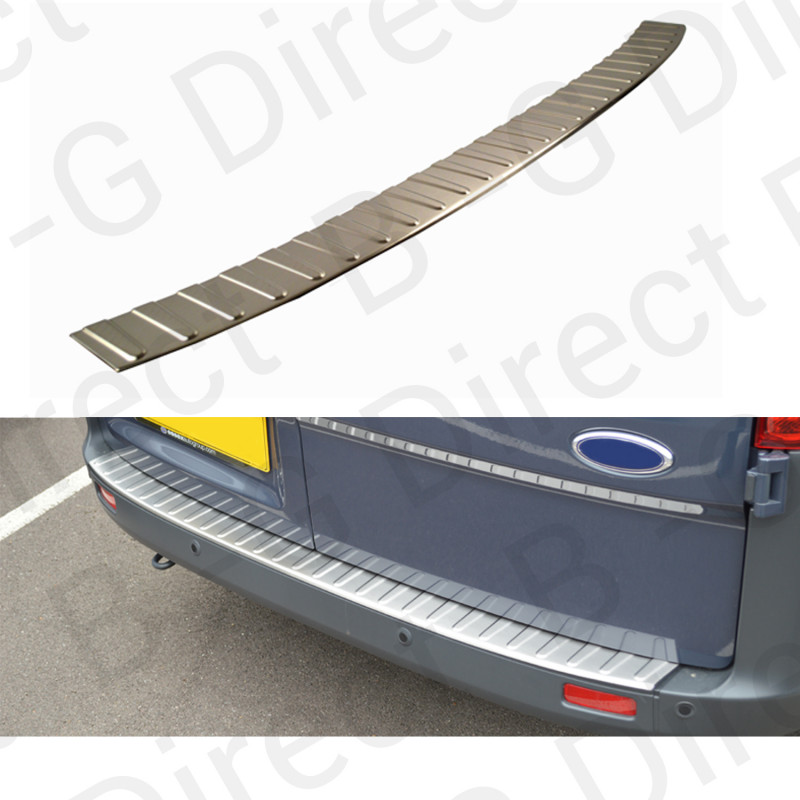 Ford Transit Custom 2013 on Stainless steel rear bumper plate