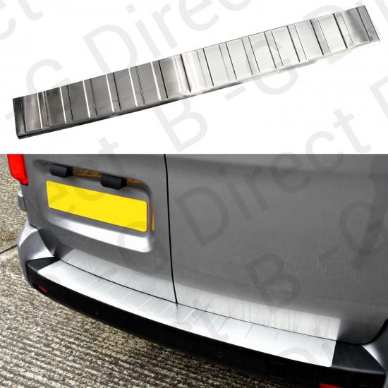 Vauxhall Vivaro 2014 to 2019 Stainless steel rear bumper plate