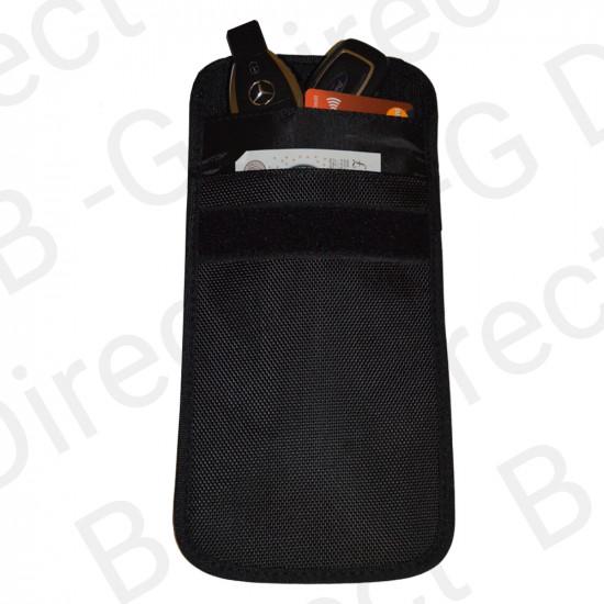 Large RFID Keyless Entry Car Key Fob Signal Blocking Faraday Bag
