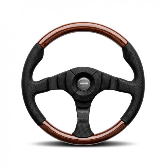 MOMO Dark Fighter Wood Steering Wheel