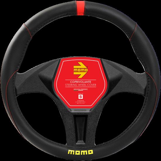 MOMO Universal Car Steering Wheel Cover - Elegant - Red